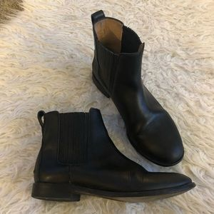 Madewell Chelsea black leather boots #F5092 Ankle